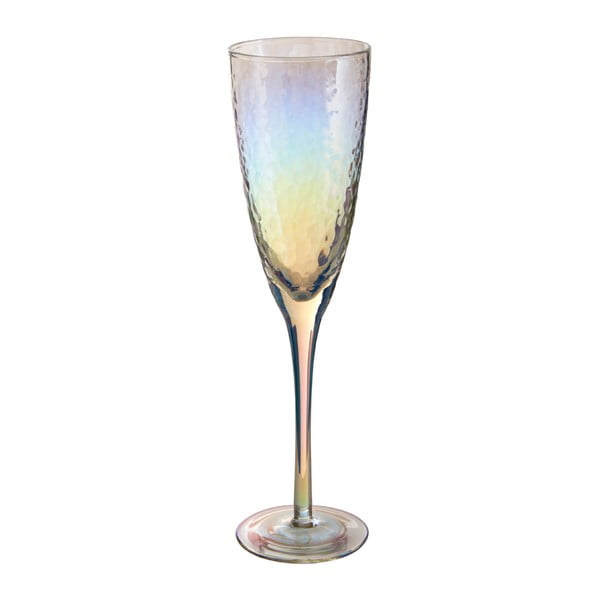 Set 4 pahare pentru șampanie Premier Housewares Hammered, 260 ml