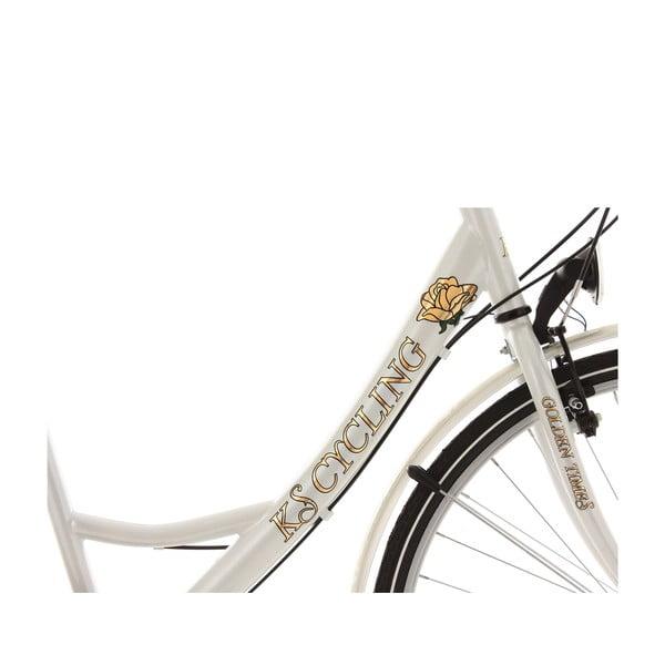 """Kolo City Bike Golden Times White, 28"""", výška rámu 46 cm"""