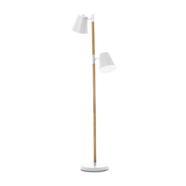 Rubi fehér állólámpa fa részletekkel - Leitmotiv