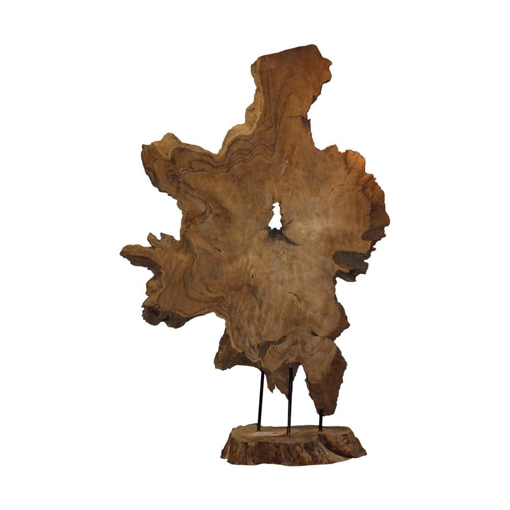 Dekorace z teakového dřeva HSM Collection Tribe Root