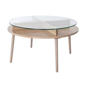 Dubový konferenční stolek RGE Solo, ⌀90 cm