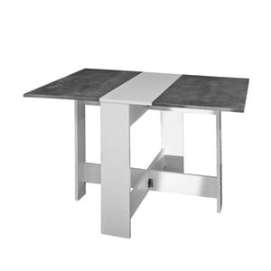 Šedobílý rozkládací stůl 13CasaTrick