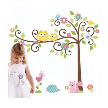 Autocolant Ambiance Tree and Owl