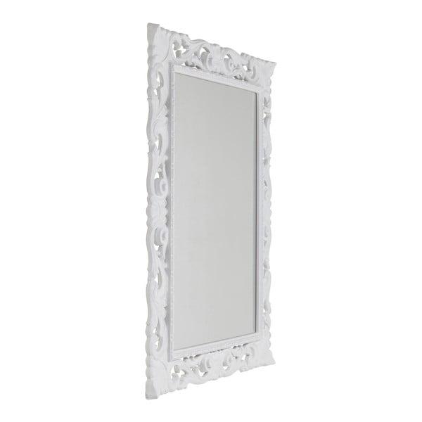 Bílé nástěnné zrcadlo Kare Design Secolo, 82x102cm