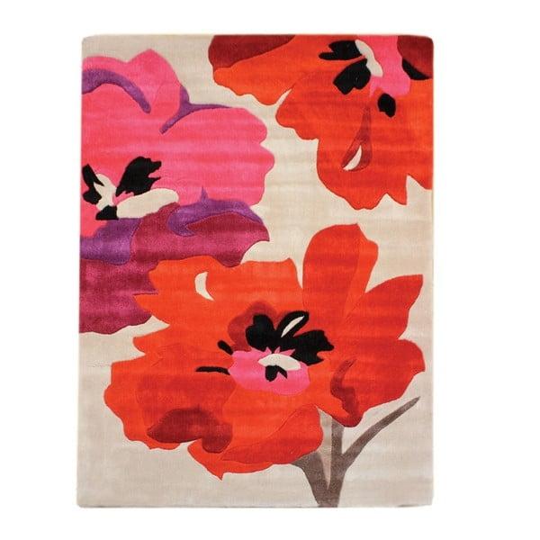 Koberec Bloom 80x150 cm, červený