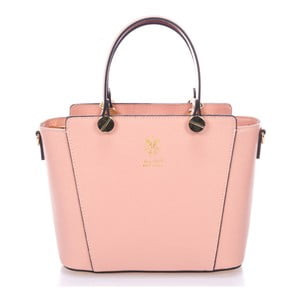 Růžová kožená kabelka Giulia Massari Mela