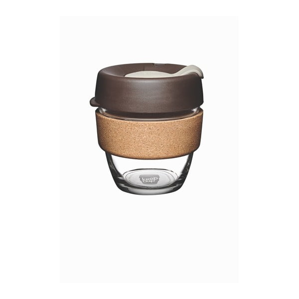 Cană de voiaj cu capac KeepCup Brew Cork Edition Almond, 227 ml
