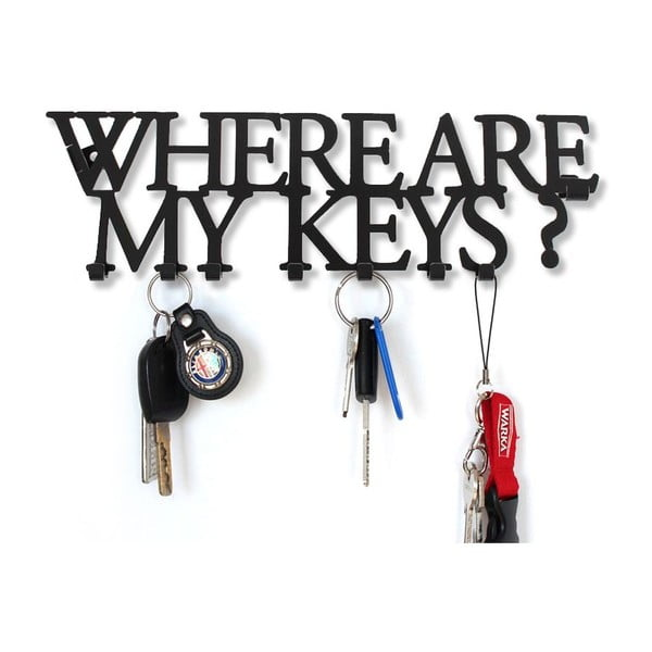 Věšák na klíče Where Are My Keys