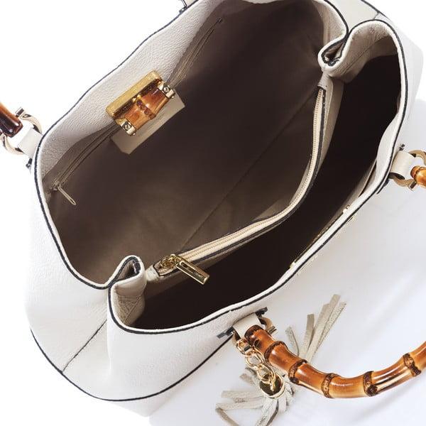 Bílá kožená kabelka Teofila