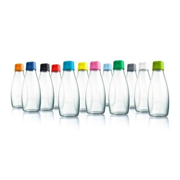 Fialová skleněná lahev ReTap s doživotní zárukou, 500ml
