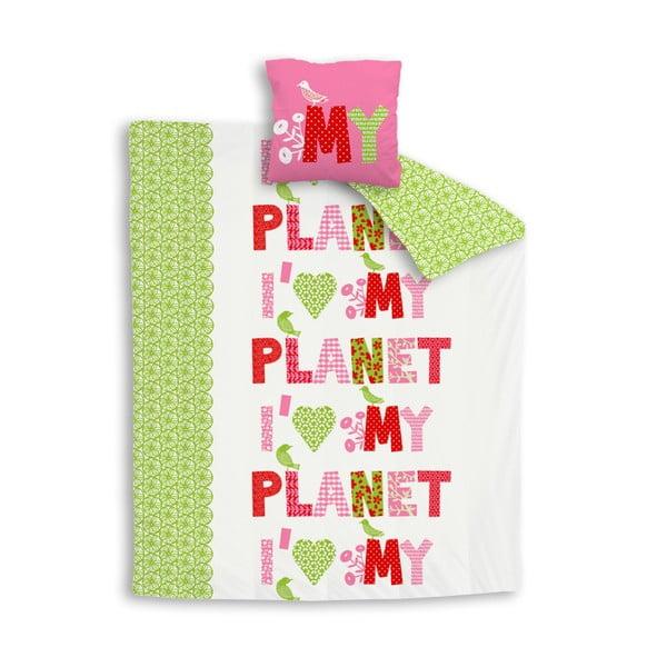 Povlečení I love my planet, 200x200 cm