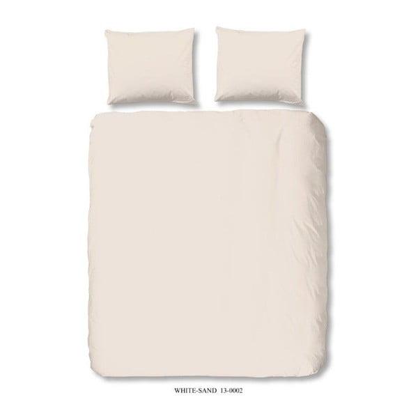 Světle béžové povlečení na dvoulůžko z bavlny Good Morning Basso, 200 x 200 cm