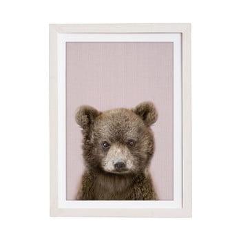 Tablou cu ramă pentru perete Querido Bestiario Baby Bear, 30 x 40 cm