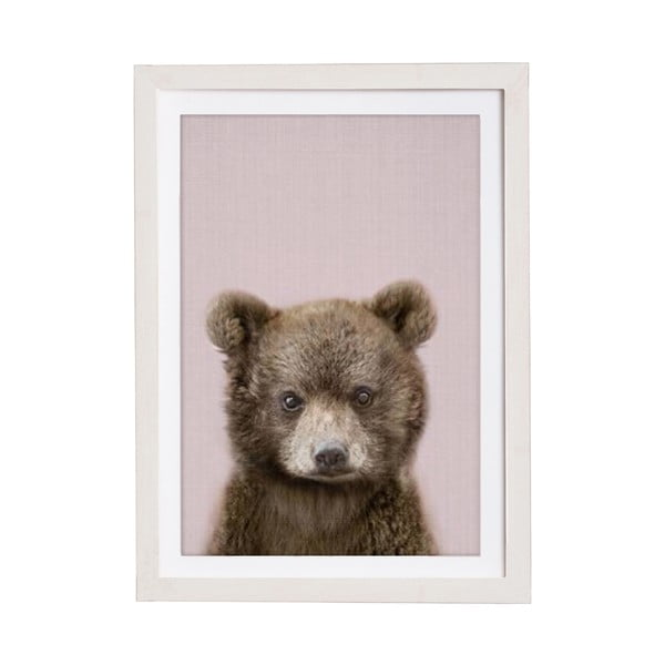 Baby Bear keretezett falikép, 30 x 40 cm - Querido Bestiario