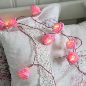 Světelný LED řetěz Best Season Pink Roses