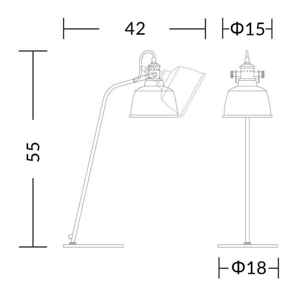 Bílá stolní lampa Garageeight Etel