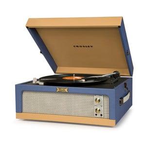 Modro-hnědý gramofon Crosley Dansette Junior