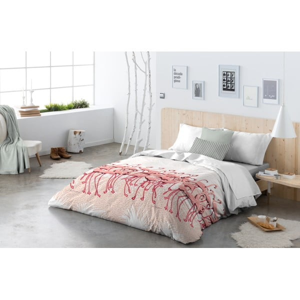 Povlečení Flamingo Flock Pink, 200x200 cm