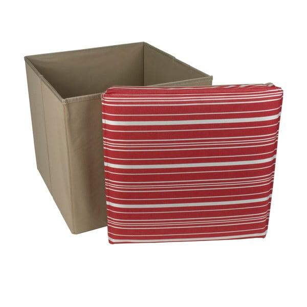 Skládací úložná krabice Tri-Coastal Design Red Stripes