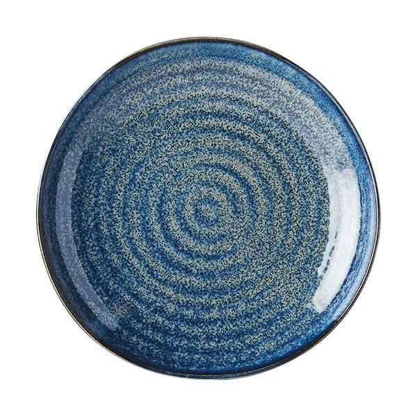 Modrý keramický talíř MIJ Indigo, ø23 cm