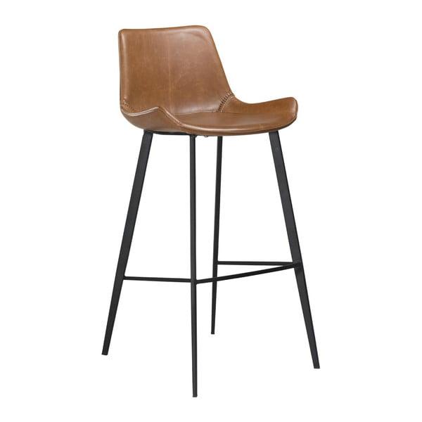 Hnědá barová židle z eko kůže DAN–FORM Denmark Hype