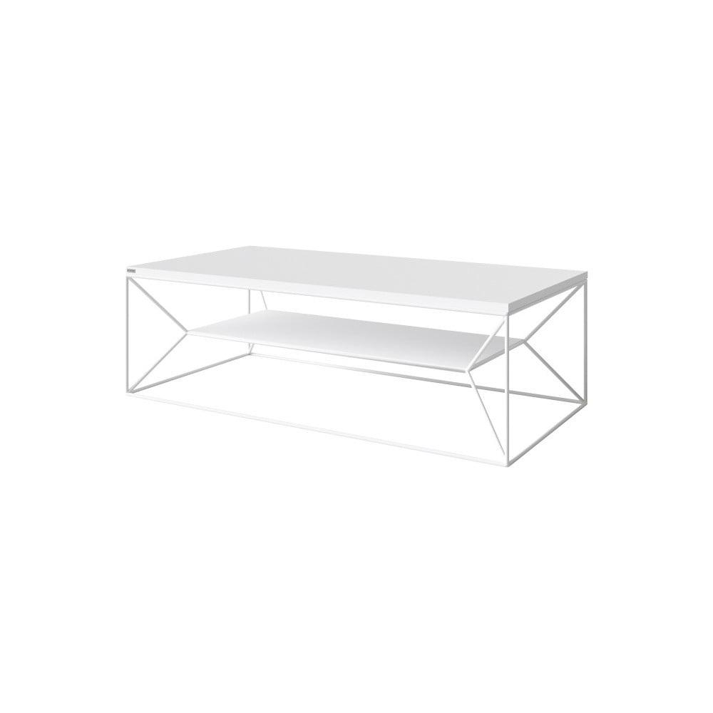 Bílý TV stolek Take Me HOME, 120 x 60 cm