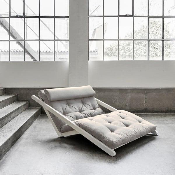 Șezlong extensibil cu 2 locuri Karup Figo White/Vision