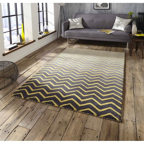Koberec Spectrum Grey Yellow, 150x230 cm