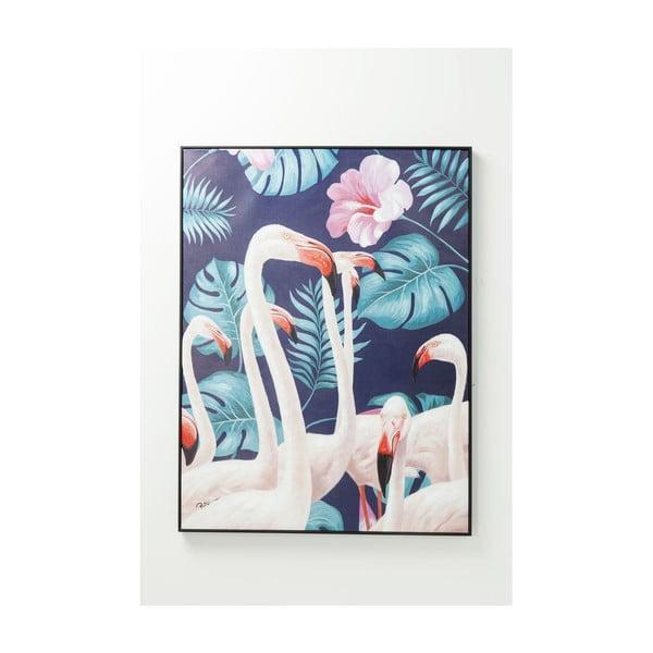 Tablou Kare Design Touched Flamingo, 122 x 92 cm