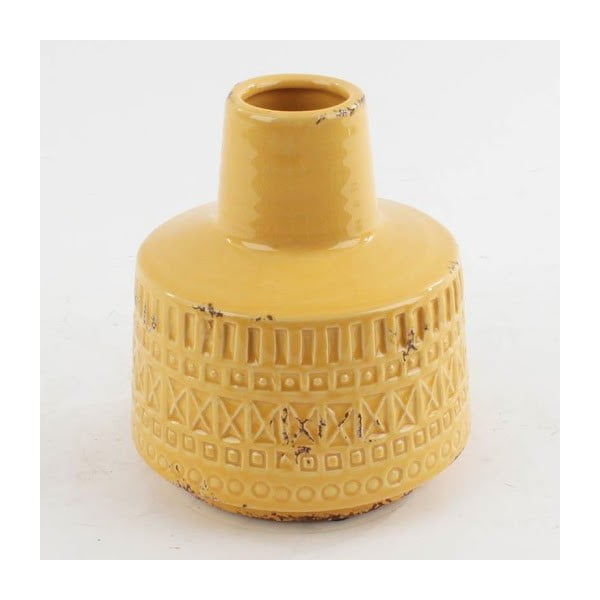 Keramická váza Yellow, 16x18 cm