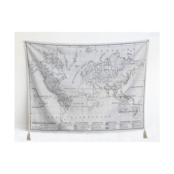 Dekorativní gobelín střásněmi Little Nice Things World Map