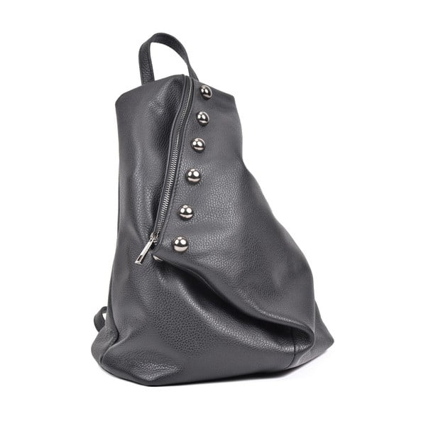 Černý dámský kožený batoh Luisa Vannini Cole