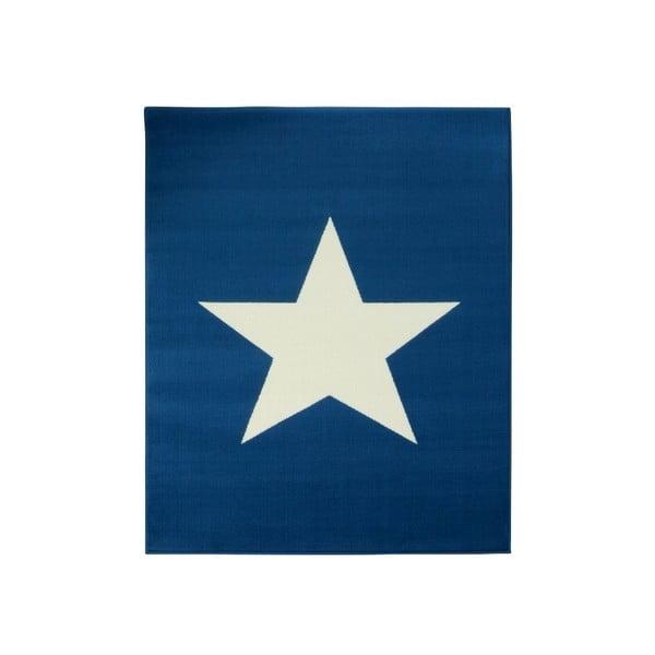 Niebieski dywan dziecięcy Hanse Home Star, 140x200 cm