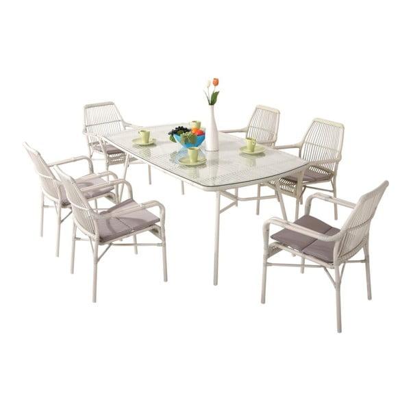 Zahradní stůl se šesti židlemi Provence