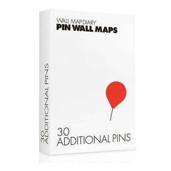Pioneze suplimentare pentru hărțile Pin World, 30 buc.