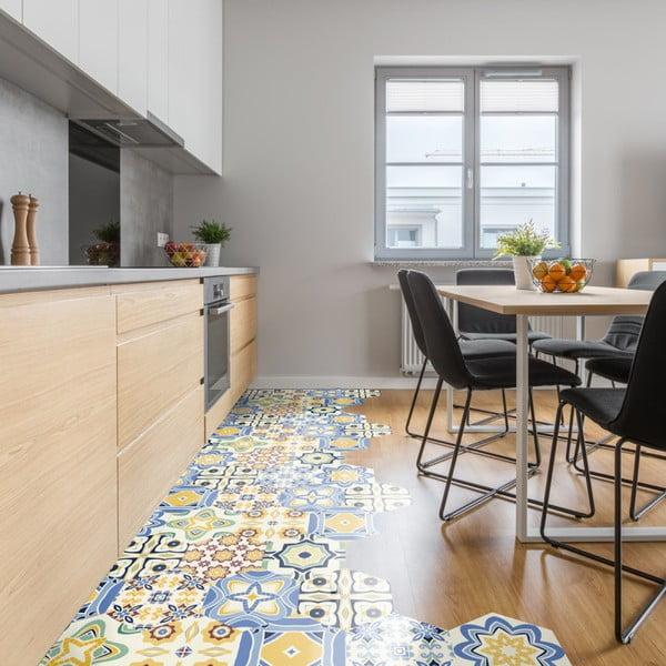 Sada 10 samolepiek na podlahu Ambiance Floor Stickers Hexagons Fionna, 40×90 cm