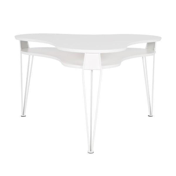 Bílý konferenční stolek s bílými nohami RGE Ester, 88x83cm