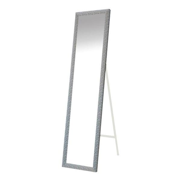 Stojací zrcadlo Floral, stříbrný rám