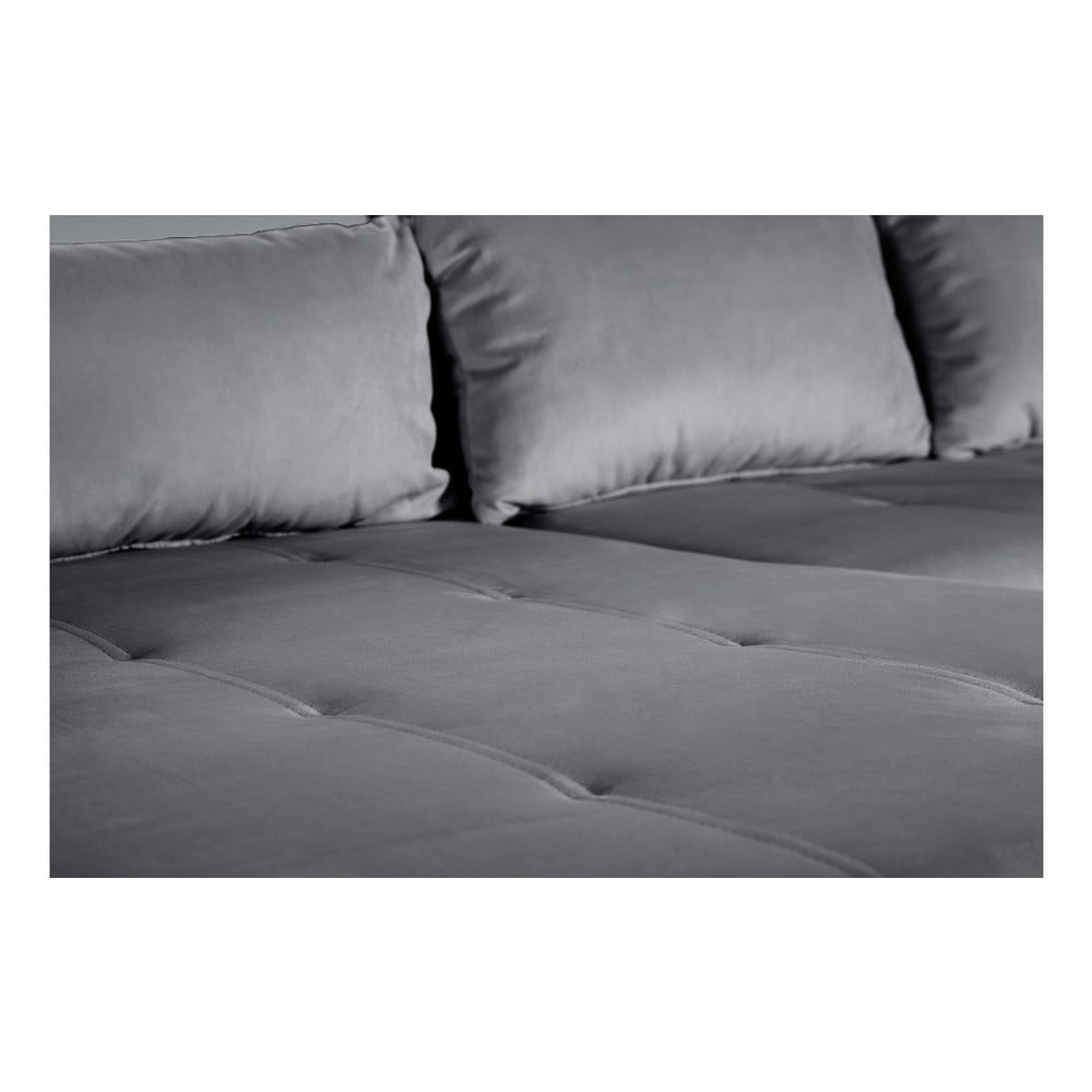 canapea modernist astrakan cu extensie pe partea st ng gri bonami. Black Bedroom Furniture Sets. Home Design Ideas