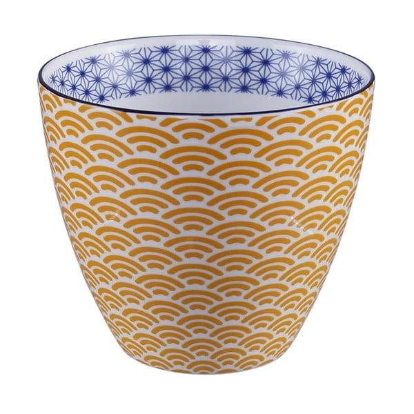 Star/Wave sárga-fehér bögre, 350 ml - Tokyo Design Studio