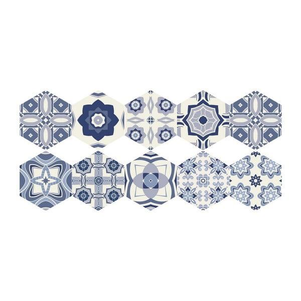 Set 10 autocolante impermeabile pentru podea Ambiance Miah, 20 x 18 cm