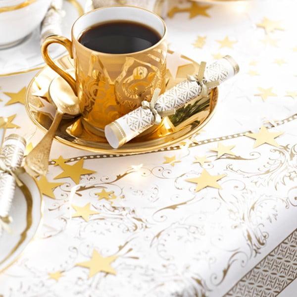 Ubrus na stůl bílo-zlatý Talking Tables, 140 cm