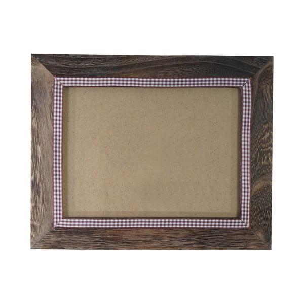Hnědý dřevěný rám na fotografie Mendler Shabby, 19x24cm