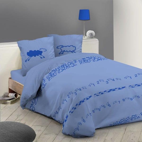 Povlčení na dvoulůžko Moutons Bleu King, 240x220 cm