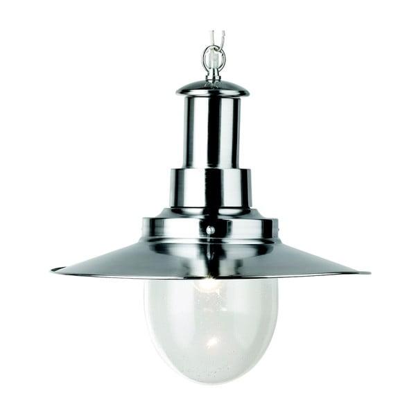 Stropní svítidlo Searchlight Fisherman Shiny, stříbrná