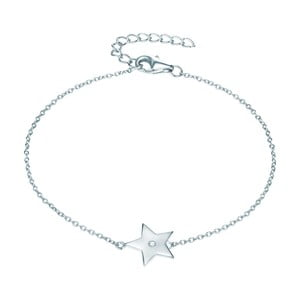 Stříbrný náramek s pravým diamantem Tess Diamonds Jolie