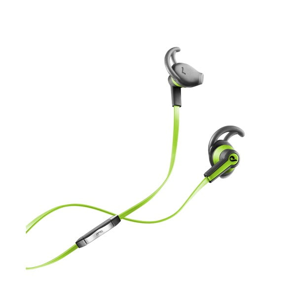 Sportovní sluchátka CellularLine WASP s mikrofonem, limetková