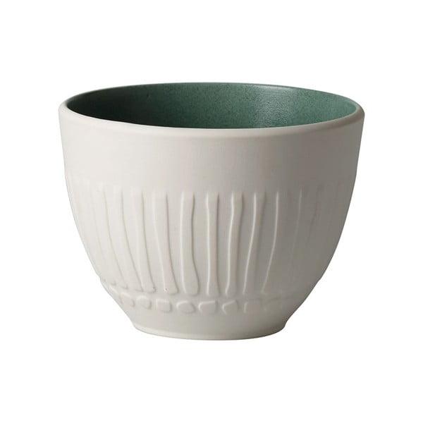 Bílo-zelený porcelánový šálek Villeroy & Boch Blossom, 450 ml