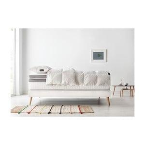 Set dvoulůžkové postele, matrace a peřiny Bobochic Paris Bobo,100x200cm+100x200cm