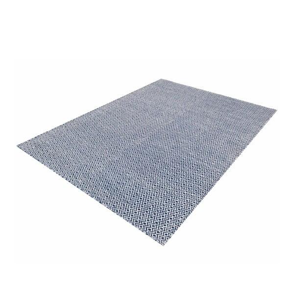 Ručně tkaný koberec Blue Geometry Kilim, 110x153 cm